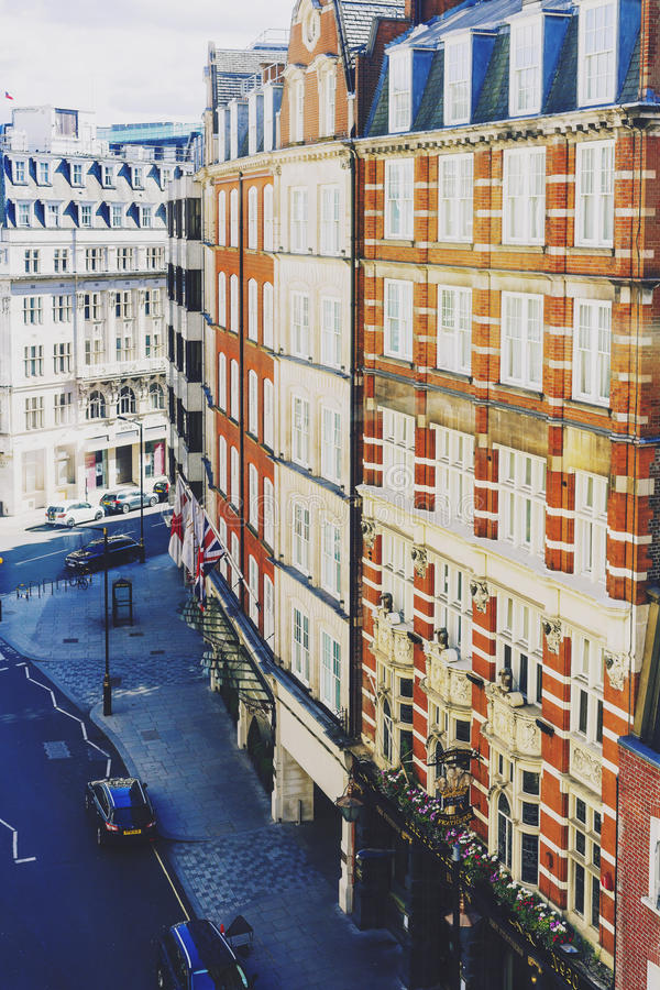 Beautiful buildings architecture in London city centre stock photo