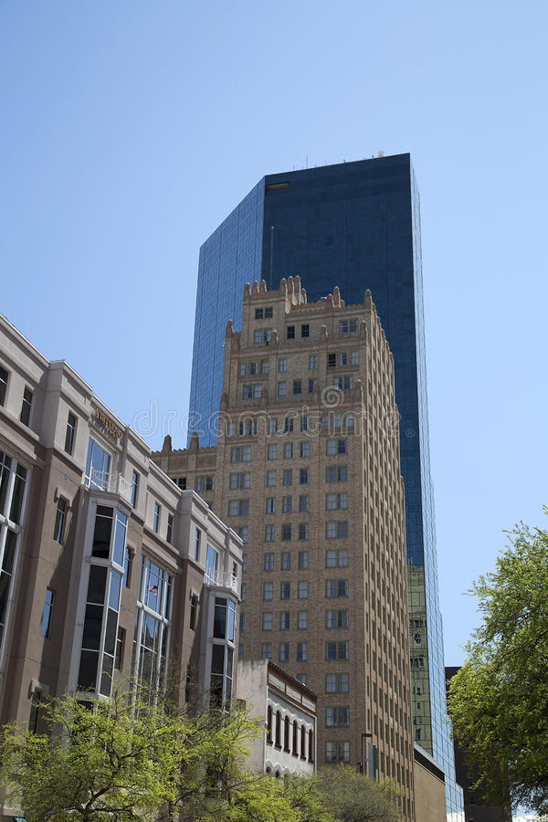 Beautiful buildings in downtown Fort Worth. Modern and historic buildings in downtown of Fort Worth ,TX USA royalty free stock photos