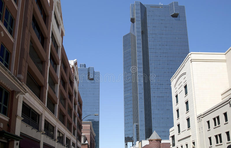 Beautiful buildings in downtown Fort Worth. Buildings in downtown of Fort Worth ,TX USA royalty free stock photography
