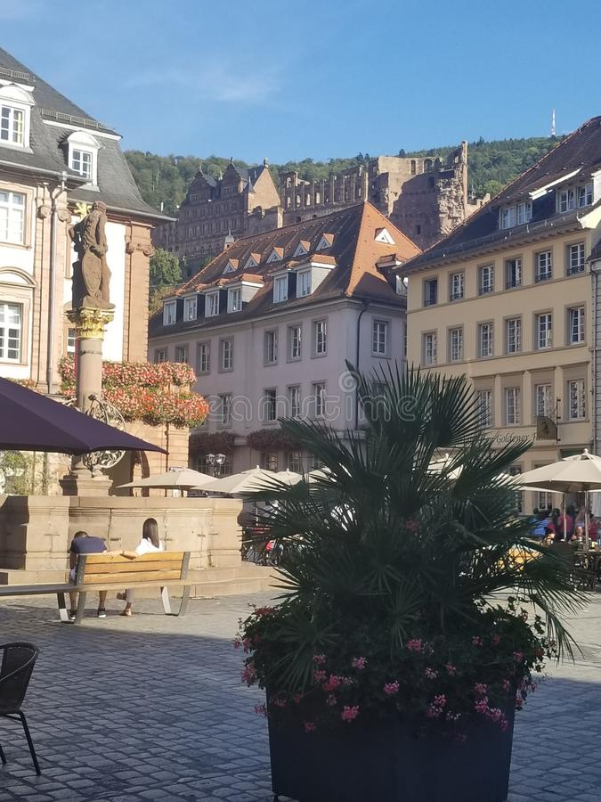 Beautiful buildings in Heidelberg Germany. Architecture, old, travel royalty free stock images