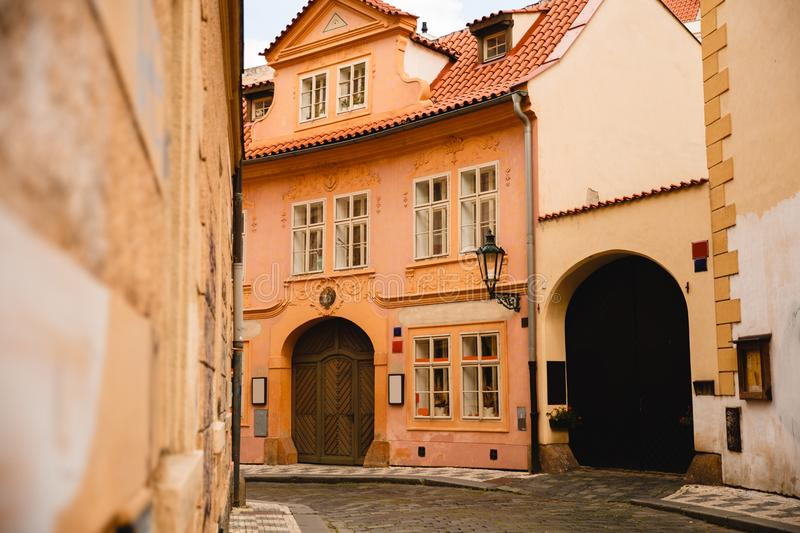 Beautiful buildings in Prague old town, Czech Republic stock images