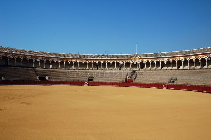 Beautiful bullfight arena in S royalty free stock photos