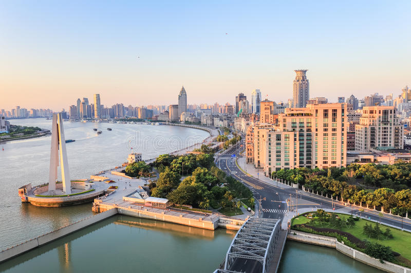Download Beautiful The Bund In Morning Royalty Free Stock Photos - Image: 37345858