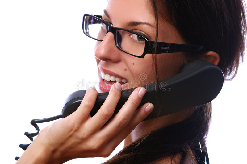 Download Beautiful Busines Woman With Telephone Stock Image - Image: 10538365