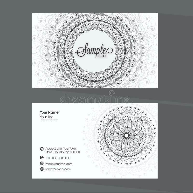 Beautiful Business Card Design. Stock Illustration - Illustration of ...