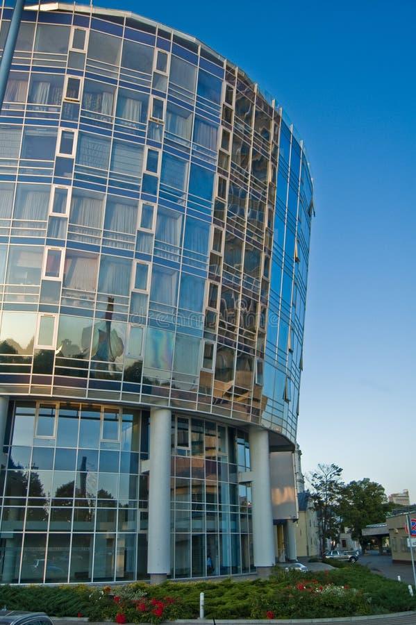 Beautiful business centre in Riga stock photos