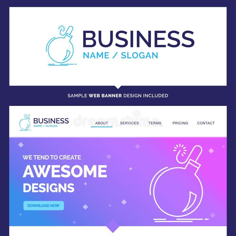 Beautiful Business Concept Brand Name Bomb, boom, danger, ddos vector illustration