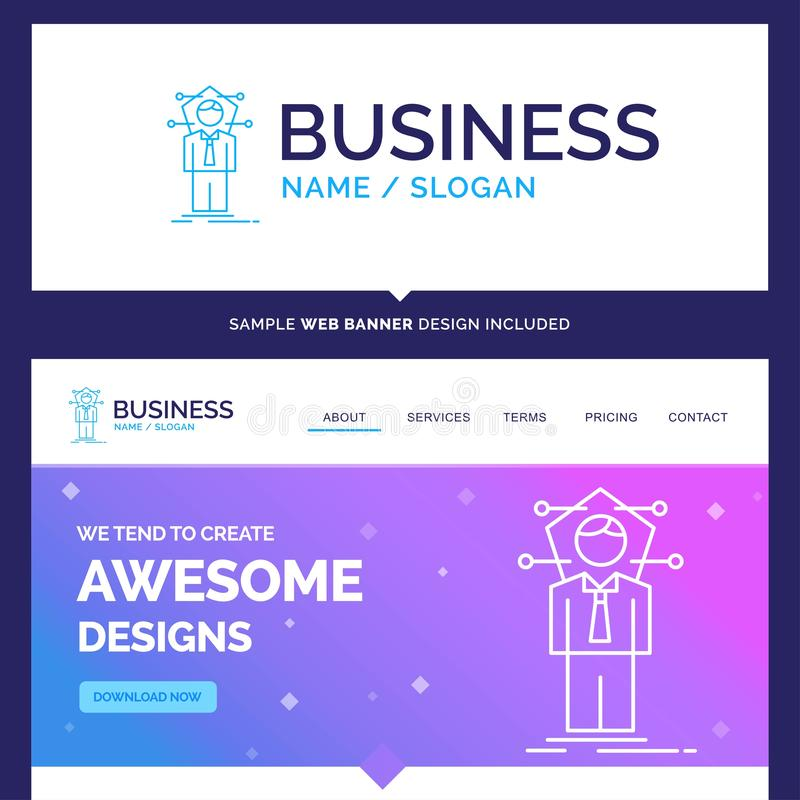 Beautiful Business Concept Brand Name Business, connection, huma vector illustration