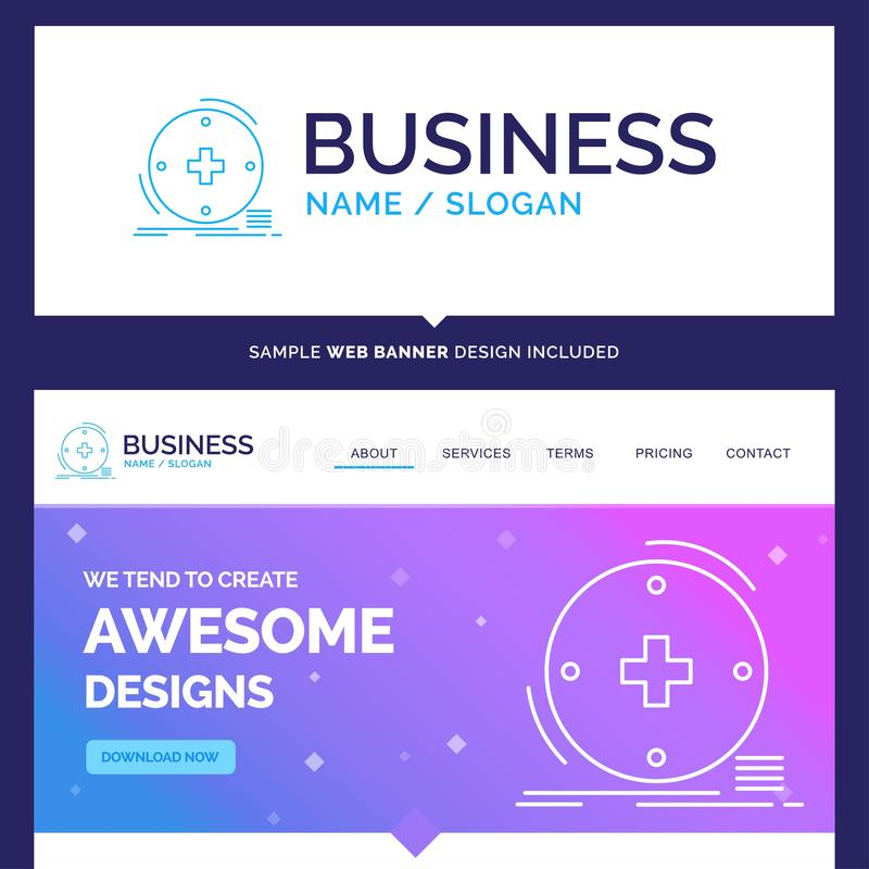 Beautiful Business Concept Brand Name Clinical, digital, health stock illustration