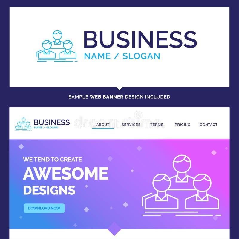 Beautiful Business Concept Brand Name Company, impiegato, gruppo illustrazione di stock
