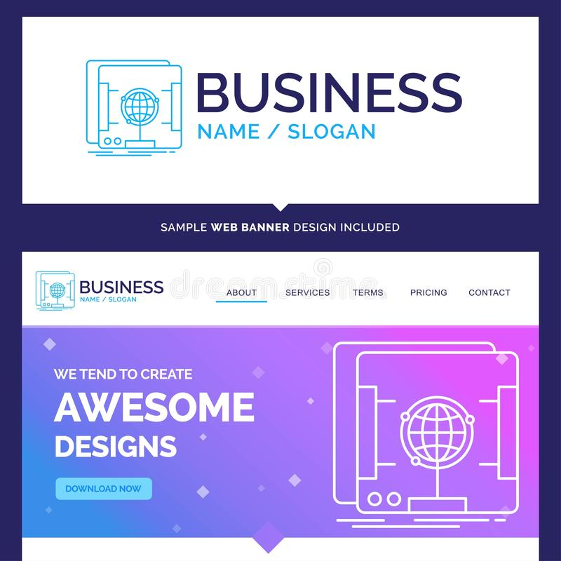 Beautiful Business Concept Brand Name 3d, dimensional, holograph stock illustration