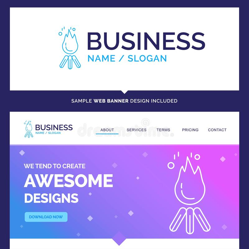 Beautiful Business Concept Brand Name fire, flame, bonfire, camp vector illustration