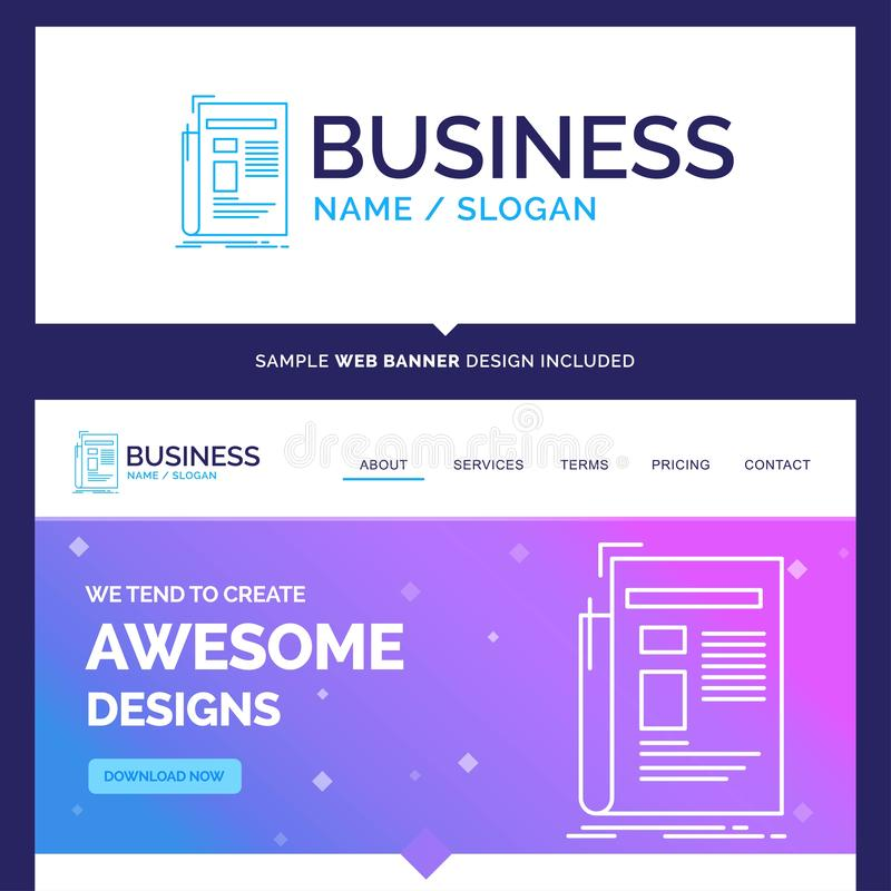 Beautiful Business Concept Brand Name Gazette, media, news, news royalty free illustration