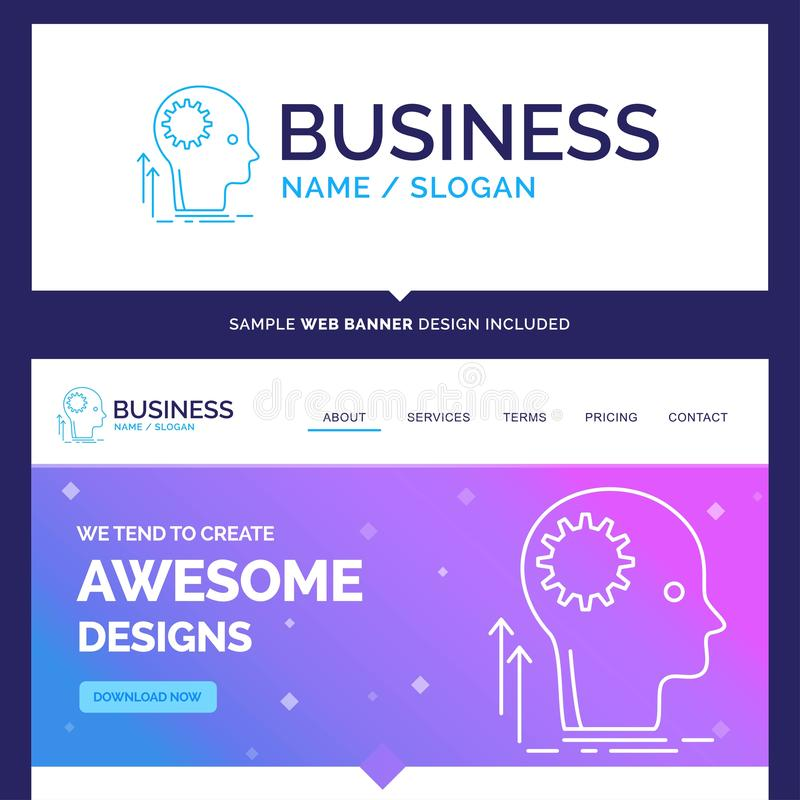 Beautiful Business Concept Brand Name Mind, Creative, thinking stock illustration