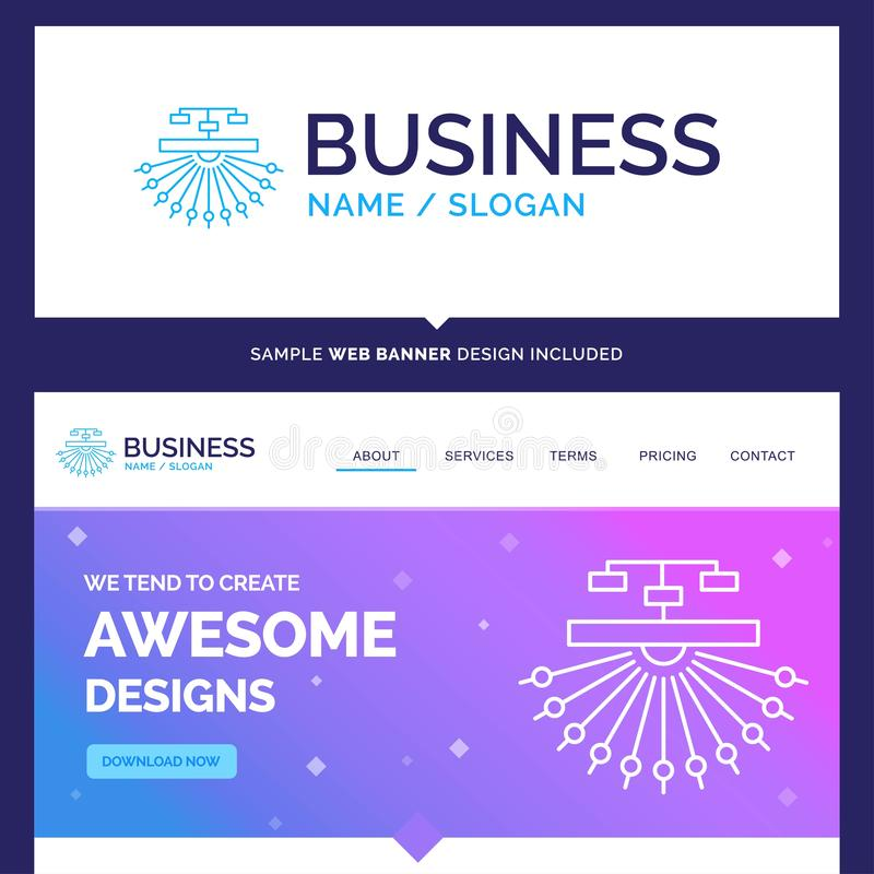 Beautiful Business Concept Brand Name optimization, site, site. Structure, Web Logo Design and Pink and Blue background Website Header Design template. Place vector illustration