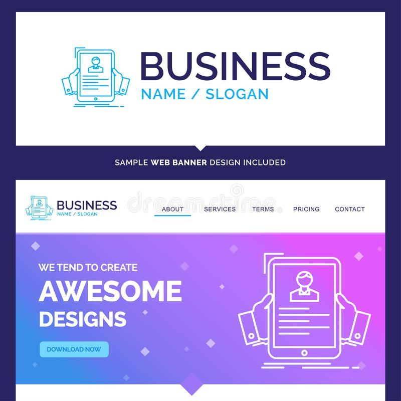 Beautiful Business Concept Brand Name resume, employee, hiring vector illustration