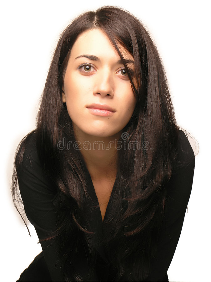 Beautiful business girl portrait stock images