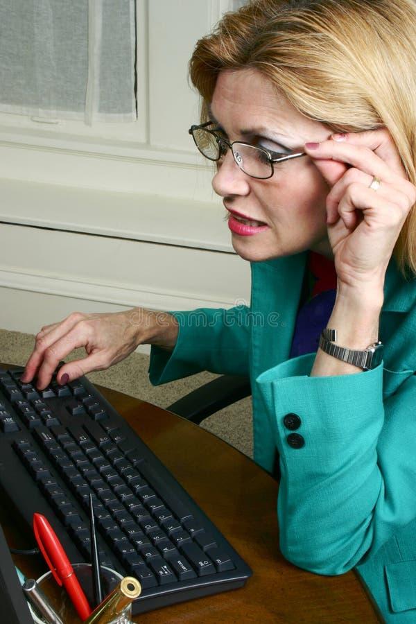 beautiful business glasses wearing woman στοκ φωτογραφία