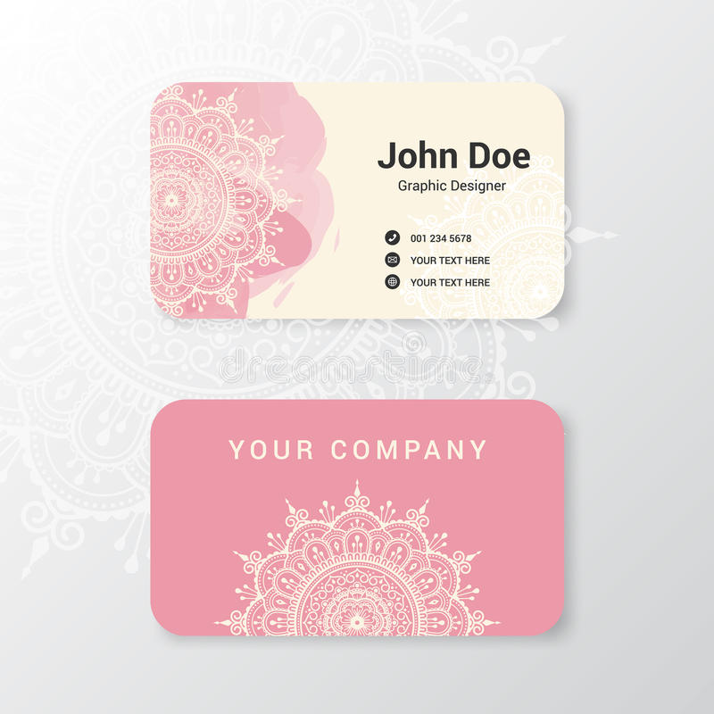 Beautiful Business Name Card Template Design Stock Vector ...