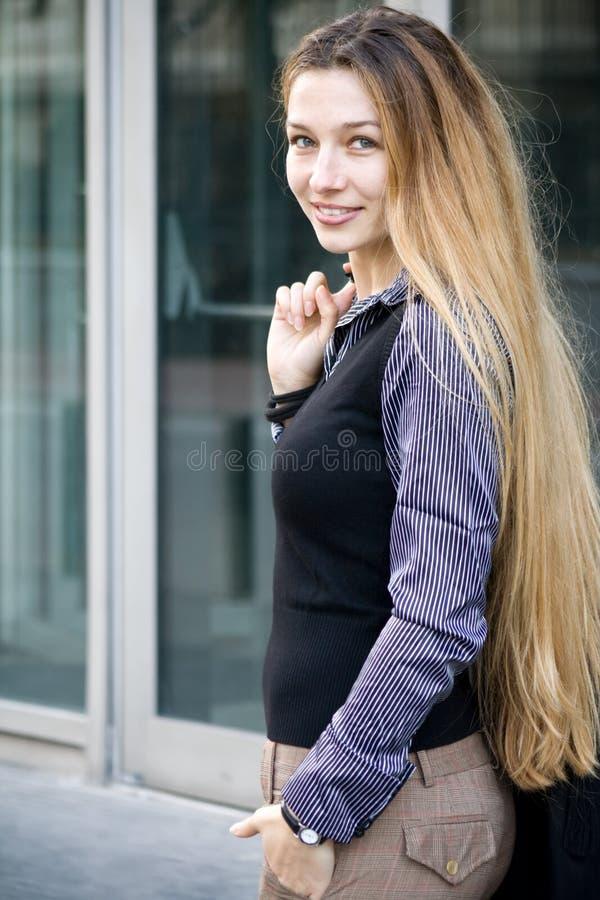 beautiful business successful woman στοκ εικόνα
