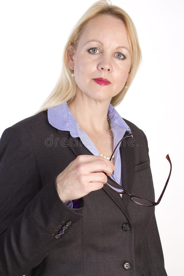 Beautiful business woman. royalty free stock photo