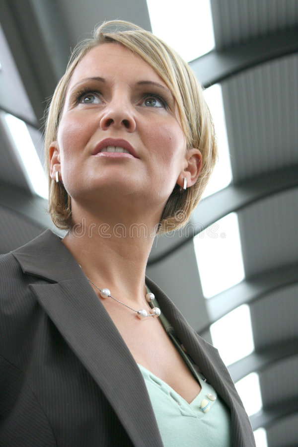 Beautiful business Woman. On Tour royalty free stock photography