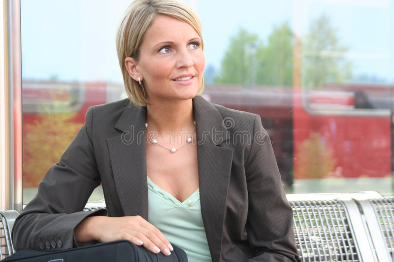 Beautiful business Woman. On Tour royalty free stock photo