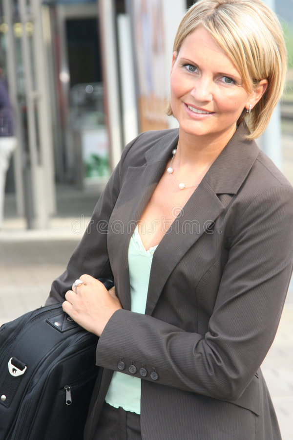 Beautiful business Woman. On Tour stock image