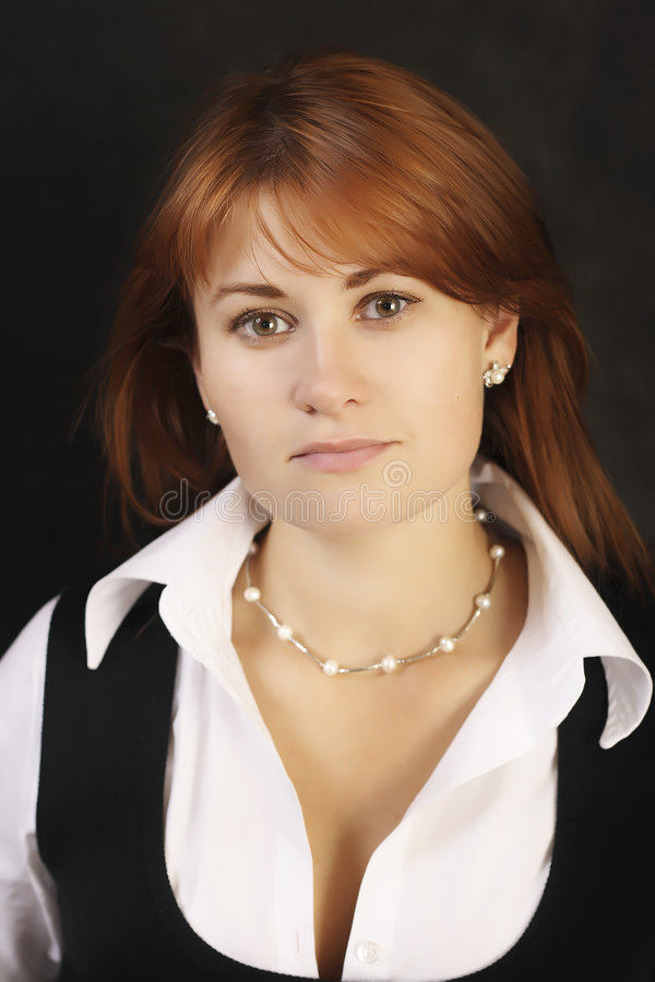 Beautiful business woman. With a very confident royalty free stock photography