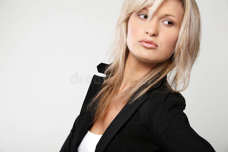 Beautiful business woman. royalty free stock photography