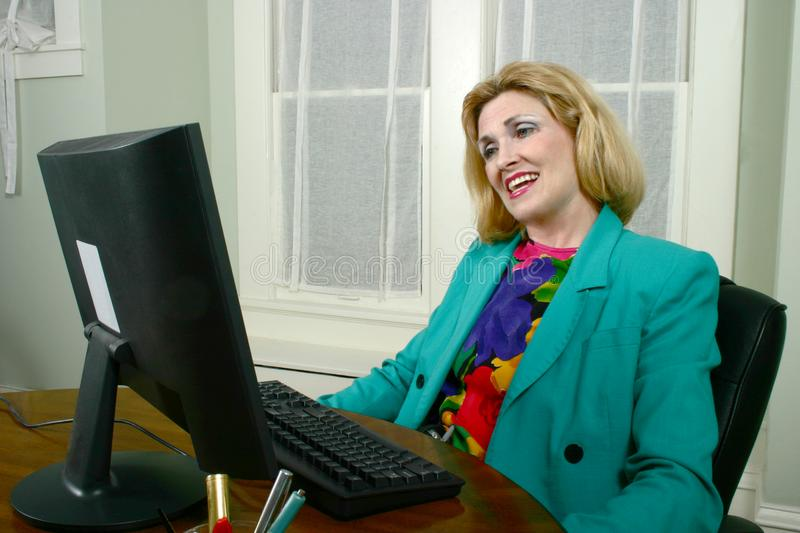 Beautiful Business Woman Approving Work royalty free stock image