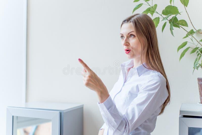 Beautiful business woman having a great idea. Beautiful business women having some great idea royalty free stock photos