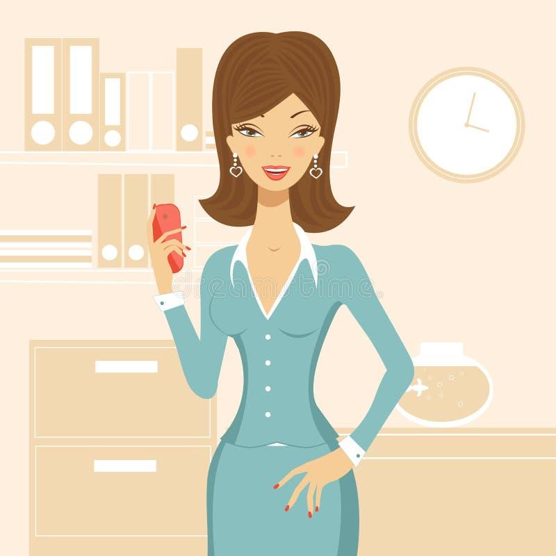 Beautiful business woman stock illustration