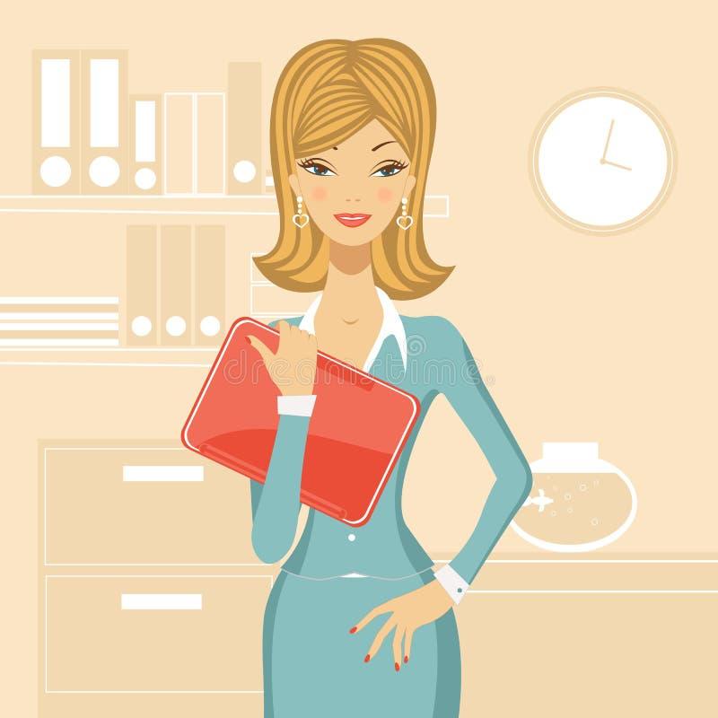 Beautiful business woman vector illustration