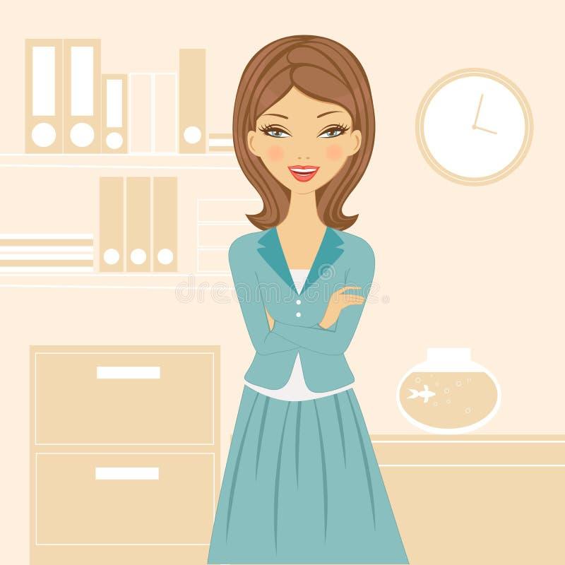 Beautiful business woman royalty free illustration