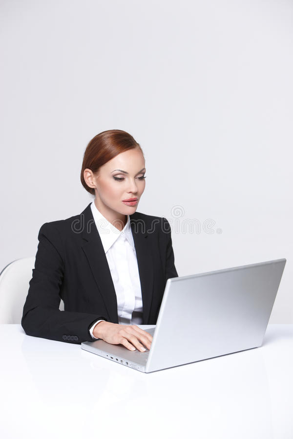 Download Beautiful Business Woman Smiling Stock Image - Image: 20487475