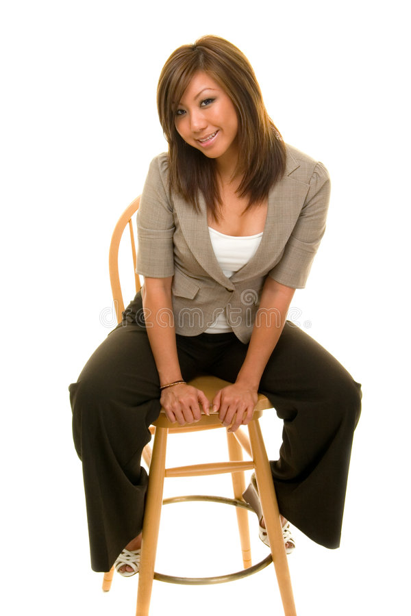 Download Beautiful Business Woman On St Stock Photo - Image of sitting, pretty: 2916102