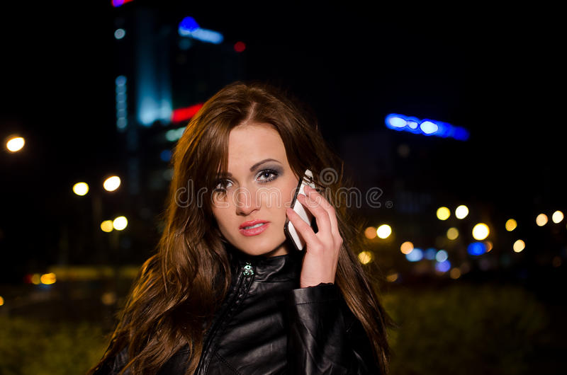 Download Beautiful Business Woman Talking On A Cell Phone A Stock Image - Image: 24903175