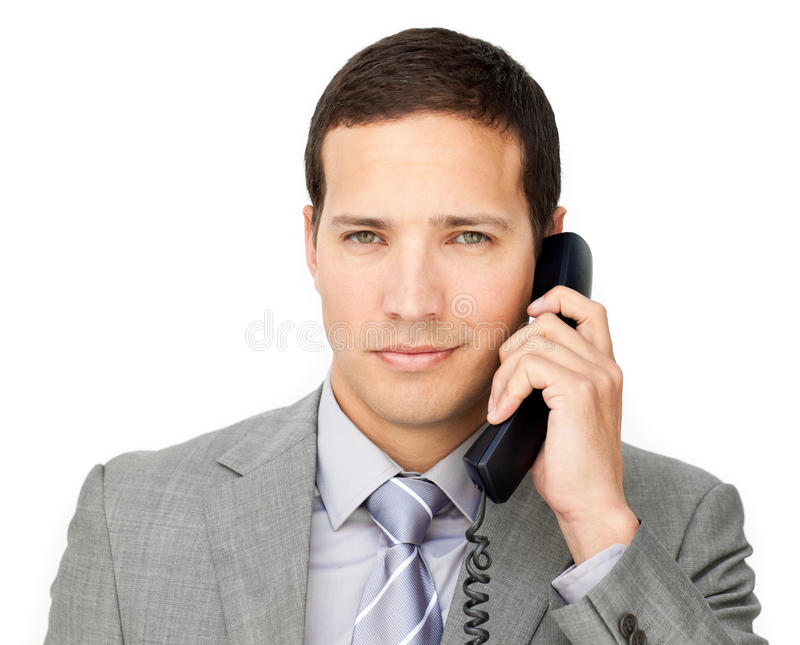 Download Beautiful Businessman On Phone Royalty Free Stock Images - Image: 12618349