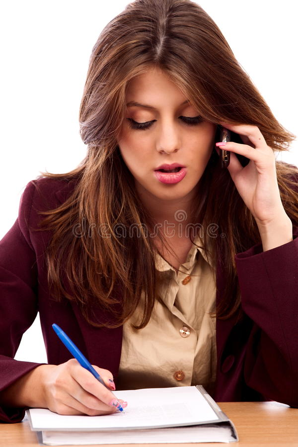 Download Beautiful businesswoman stock photo. Image of office - 16230248
