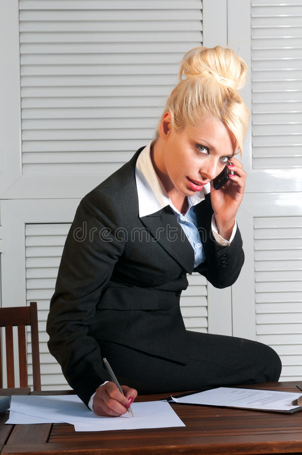 Download Beautiful Businesswoman With Computer Stock Photo - Image: 24654892
