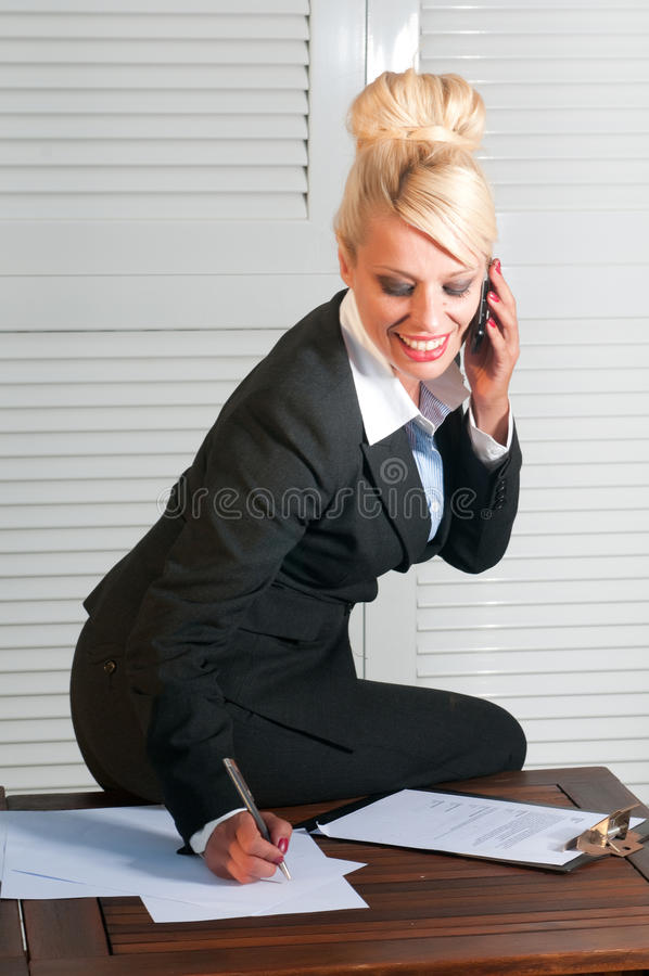 Download Beautiful Businesswoman With Computer Stock Image - Image: 24654913