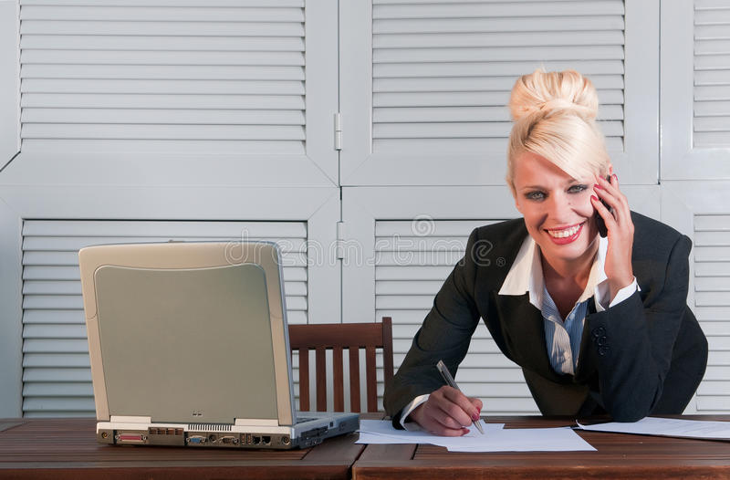 Download Beautiful Businesswoman With Computer Stock Photo - Image: 24655008