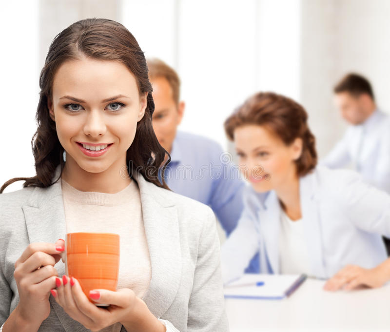 Download Beautiful Businesswoman With Cup Of Coffee Stock Image - Image: 38009107