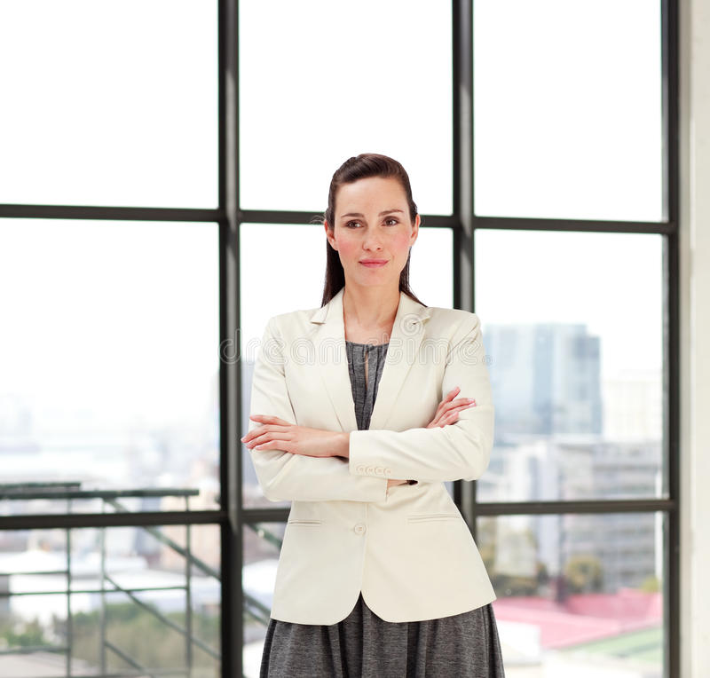 Download Beautiful Businesswoman With Folded Arms Stock Image - Image: 9758489