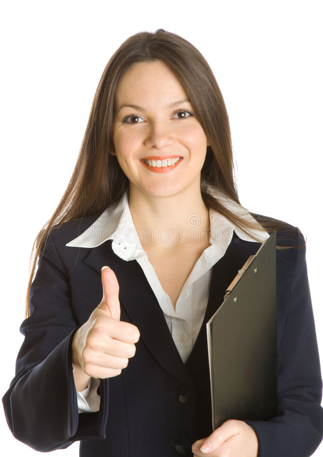 Download A Beautiful Businesswoman Holding A Clipboard Stock Photo - Image: 7896688