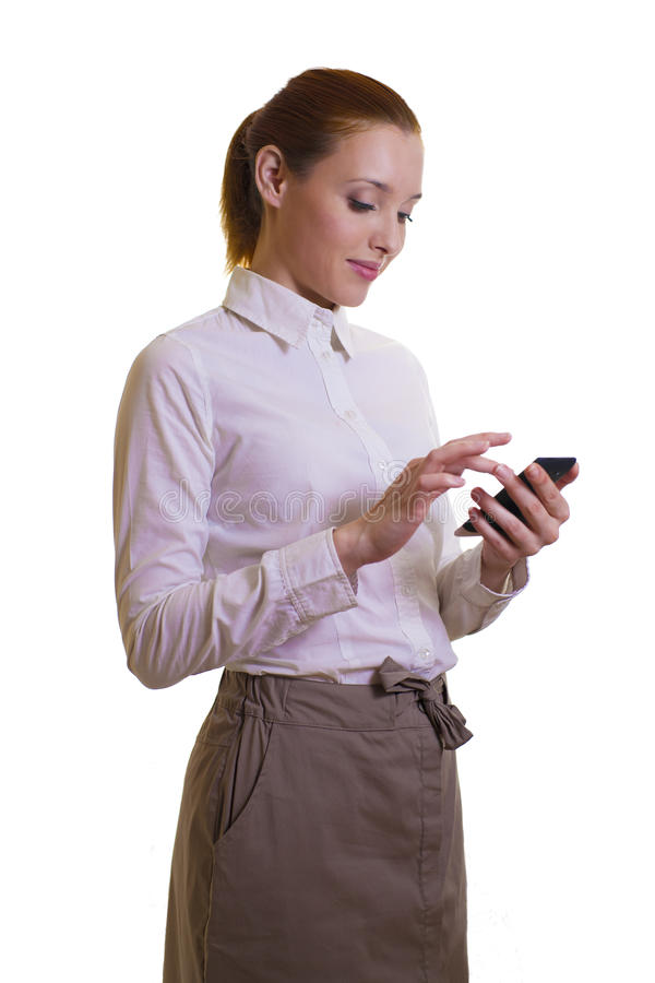 Download Beautiful Businesswoman With Smart-phone Stock Photos - Image: 36413893