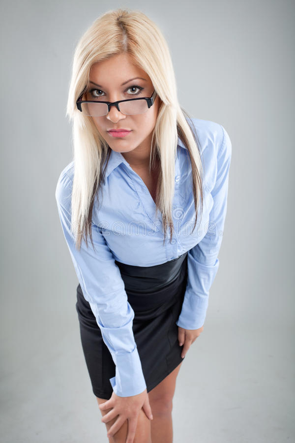Beautiful businesswoman standing royalty free stock photography