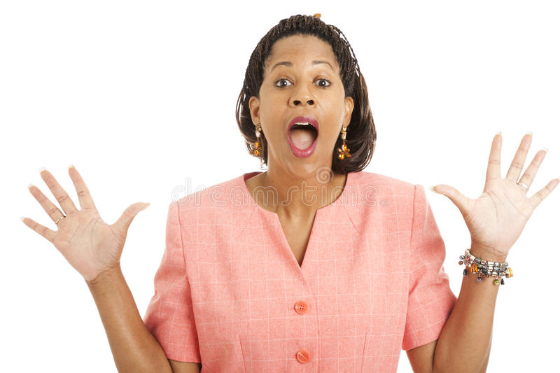 Download Beautiful Businesswoman - Surprised Stock Image - Image: 14858711