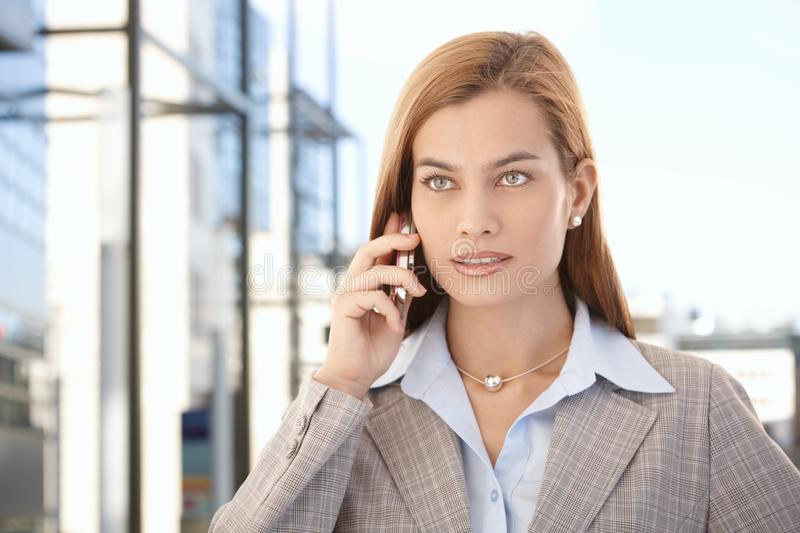 Download Beautiful Businesswoman Talking On Mobile Phone Stock Photo - Image: 19103276